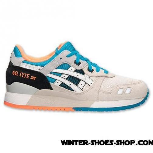 Cheap Online US Men's Asics Gellyte Iii Casual Shoes Off White/White/Turquoise/Orange For Sale - Cheap Online US Men's Asics Gellyte Iii Casual Shoes Off White/White/Turquoise/Orange For Sale-01-0