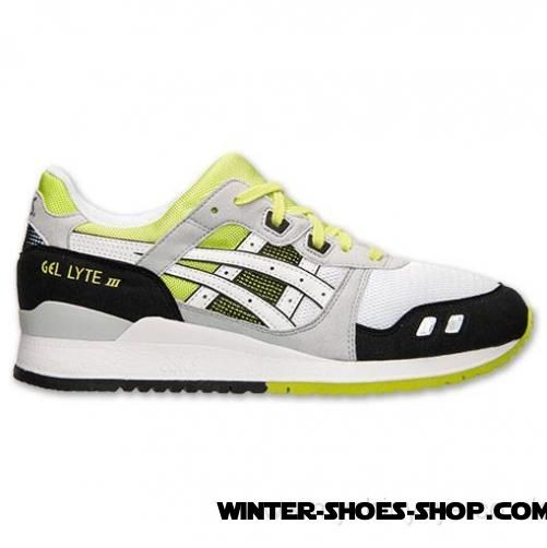 Opening Sales US Men's Asics Gellyte Iii Casual Shoes White/Lime/Black Sale - Opening Sales US Men's Asics Gellyte Iii Casual Shoes White/Lime/Black Sale-01-0