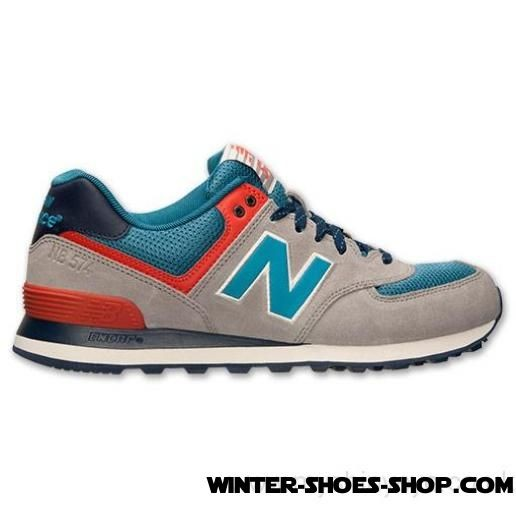 2017 New US Men's New Balance 574 Out East Casual Shoes Grey/Blue/Orange Sale - 2017 New US Men's New Balance 574 Out East Casual Shoes Grey/Blue/Orange Sale-01-0