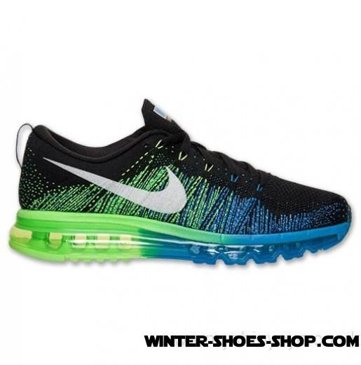 New Models US Men's Nike Flyknit Air Max Running Shoes Black/White/Photo Blue/Electric Outlet Factory Shop - New Models US Men's Nike Flyknit Air Max Running Shoes Black/White/Photo Blue/Electric Outlet Factory Shop-01-0