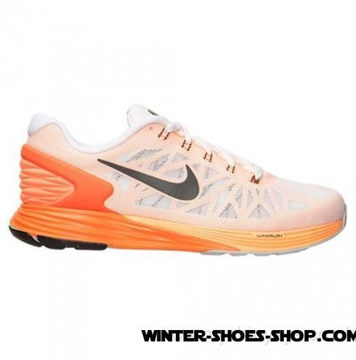 Online Discount US Men's Nike Lunarglide 6 Running Shoes White/Black/Total Orange Hot Sale - Online Discount US Men's Nike Lunarglide 6 Running Shoes White/Black/Total Orange Hot Sale-01-0