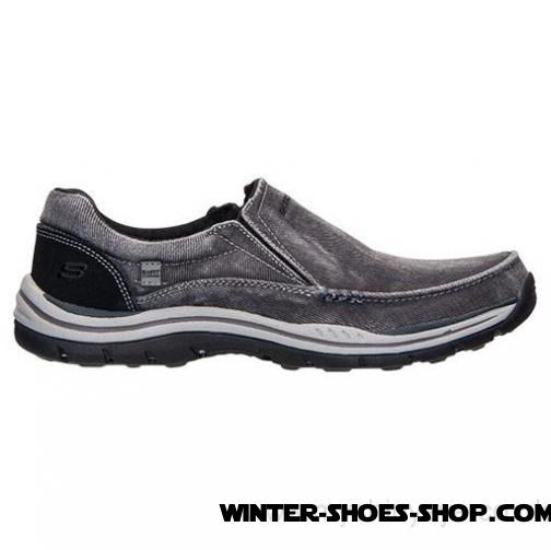 Fashionable US Men's Skechers Relaxed Fit: Expected Avillo Casual Shoes Black Factory Outlet - Fashionable US Men's Skechers Relaxed Fit: Expected Avillo Casual Shoes Black Factory Outlet-01-0