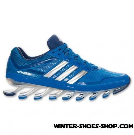 newest 65f91 d8cd4 ... Excellent US Men s Adidas Springblade Running Shoes Blue  Beauty Metallic Silver Yacht Blue On ...