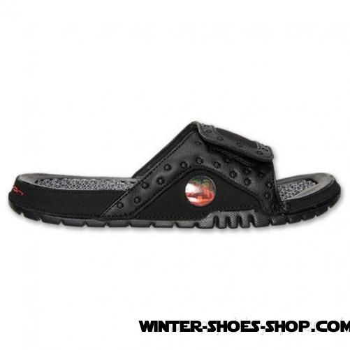 069877d97aa1 ... Bargain Sale US Men s Jordan Hydro 13 Slide Sandals Black Gym Red All  The Best