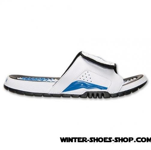 wholesale dealer eb97b 5904f New Collection US Men's Jordan Hydro Retro 6 Slide Sandals  White/Black/Sport Blue Hot Sale