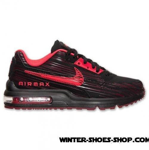new product 3f77f af005 ... Best Quality US Men s Nike Air Max Ltd 3 Premium Running Shoes  Black Action Red