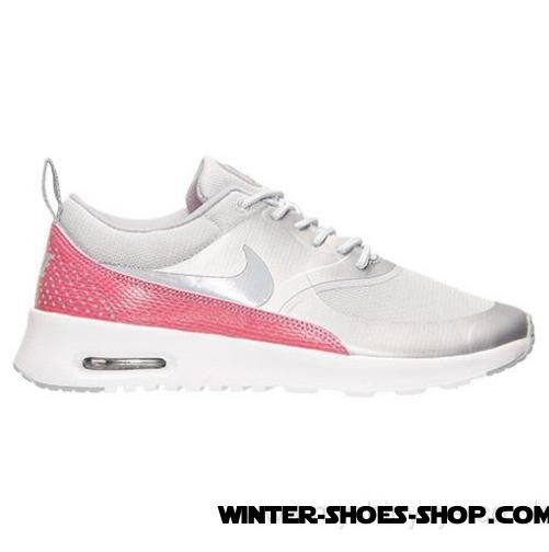 best sneakers aaa6f f89a0 ... Special Offer US Women s Nike Air Max Thea Premium Running Shoes  Metallic Platinum Wolf Grey ...