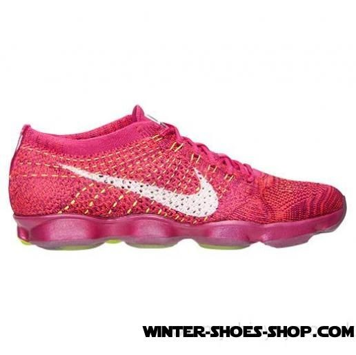 9fb1cb44c27 ... Best Quality US Women s Nike Flyknit Zoom Agility Training Shoes  Fireberry White Hyper Punch ...