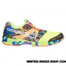 Official Store US Men's Asics Gelnoosa Tri 8 Running Shoes Flash Yellow/Flash Orange/Multi Factory Outlet-20