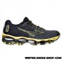 Trend Model US Men's Mizuno Wave Prophecy 4 Running Shoes Turbulence/Black/Bolt Outlet York-20