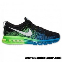 New Models US Men's Nike Flyknit Air Max Running Shoes Black/White/Photo Blue/Electric Outlet Factory Shop-20