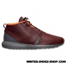 Half Off US Men's Nike Roshe Run Premium Natural Motion Sneakerboot Barkroot Brown/Hyper Crimson/Cedar For Sale Online-20