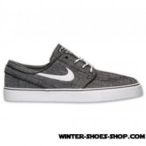 Shopping Model US Men's Nike Sb Zoom Stefan Janoski Canvas Casual Shoes Black/White/Anthracite Best Deals-20