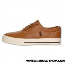 Bargain Sale US Men's Polo Ralph Lauren Vaughn Leather Casual Shoe Tan Outlet Factory Shop-20