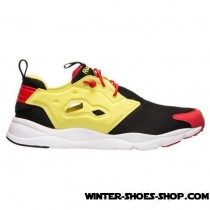 Cheap Online US Men's Reebok Furylite Running Shoes Black/Hyper Green/Red Rush Us Sale-20
