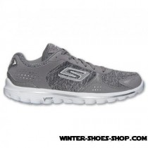 The Varied Pattern US Women's Skechers Gowalk 2 Flash Running Shoes Grey/White For Sales-20
