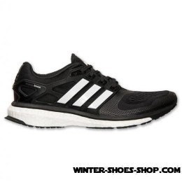 Glamor Model US Men's Adidas Energy Boost 2m Running Shoes Black/White/Solar Red Factory Outlet-20