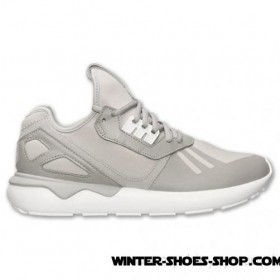 Unique Style US Men's Adidas Originals Tubular Runner Casual Shoes Grey/White For Sale