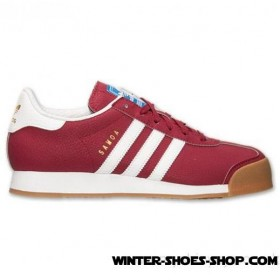Hot Sale US Men's Adidas Samoa Casual Shoes Collegiate Burgundy/White/Gold Metallic Online