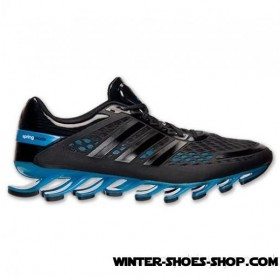 2017 Hot-Selling US Men's Adidas Springblade Razor Running Shoes Black/Black/Solar Blue Factory Outlet