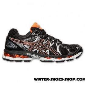 Glamor Model US Men's Asics Gelnimbus 16 Running Shoes Black/Onyx/Orange Outlet Genuine