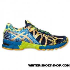 Special Offer For New Clients US Men's Asics Gelnoosa Tri 9 Gr Running Shoes Gold Ribbon/Blue/Lime Online