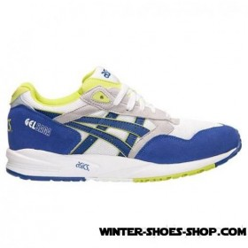 Hot-Selling US Men's Asics Gelsaga Casual Shoes White/Dark Blue/Lime For Sale Online