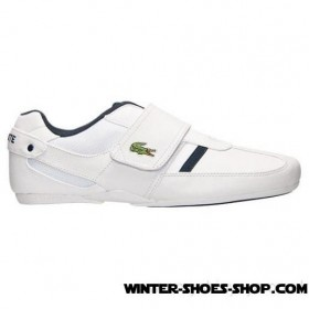 2017 Must-Have US Men's Lacoste Protected Cr Casual Shoes White/Dark Blue Outlet Shop