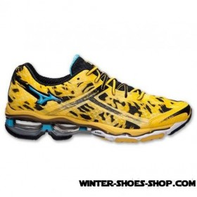 Best Price US Men's Mizuno Wave Creation 15 Running Shoes Cyber Yellow/Aquarius/Black Us Sale