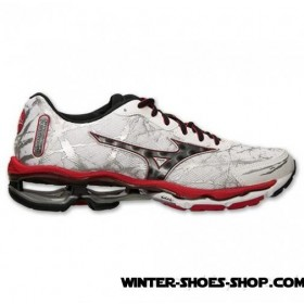 Special Design US Men's Mizuno Wave Creation 16 Running Shoes White/Black/Chinese Red For Sale Online