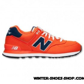 Outlet Sale US Men's New Balance 574 Pique Polo Casual Shoes Orange Outlet