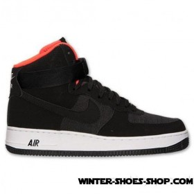 Online Discount US Men's Nike Air Force 1 High 07 Basketball Shoes Black/Bright Crimson/White Cheap Sale