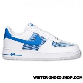 Tendy Style US Men's Nike Air Force 1 Low Casual Shoes White/Hyper Cobalt/Pure Platinum Coupons