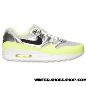Tendy Style US Men's Nike Air Max 1 Fb Premium Running Shoes Metallic Silver/Black/Volt Cheap Sale