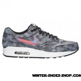 Reasonable Price US Men's Nike Air Max 1 Fb Running Shoes Black/Bright Crimson/White/Blue Lagoon Factory Price