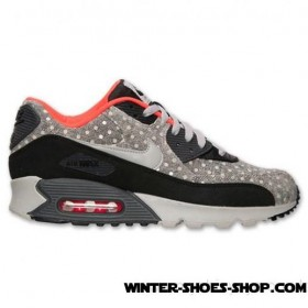 New Collections US Men's Nike Air Max 90 Leather Premium Running Shoes Black/Granite/Anthracite/Crimson Coupon Code
