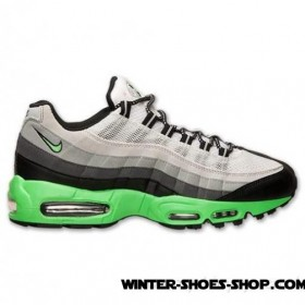 Product Promotion US Men's Nike Air Max 95 Running Shoes Black/Poison Green/Dark Grey/Silver Outlet