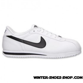 Special Style US Men's Nike Cortez Basic Leather Casual Shoes White/Black/Silver Sale Online 2017