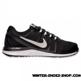 Price Was Duplicated US Men's Nike Dual Fusion Run 3 Running Shoes Black/Metallic Silver/White/Cool Grey Sale Cheap