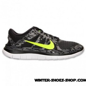 Model 2017 US Men's Nike Free 4.0 V4 Running Shoes Black/Volt/Medium Ash For Sale