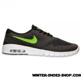 2017 Hot Sale US Men's Nike Sb Eric Koston 2 Max Casual Shoes Black/Flash Lime/White Up To 78% Off
