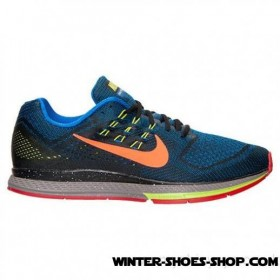 Fire Sale US Men's Nike Zoom Structure 18 Running Shoes Black/Antarctica/Hyper Cobalt US Sale