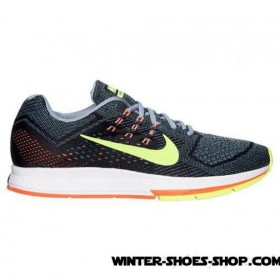 Clearance Sale US Men's Nike Zoom Structure 18 Running Shoes Magnet Grey/Volt/Hyper Crimson Sale Cheap