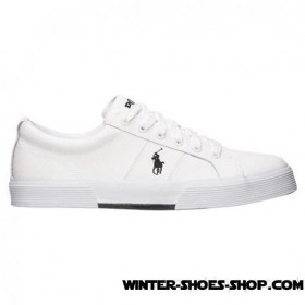 Superior Style US Men's Polo Ralph Lauren Felixstow Casual Shoes White Leather Outlet Sale