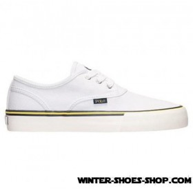 Special Style US Men's Polo Ralph Lauren Morray Casual Shoes Pure White Under Discount