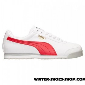 Special Offer US Men's Puma Roma Casual Shoes White/High Risk Red Sale Online 2017