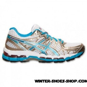 Hot-Selling US Women's Asics Gelkayano 20 Running Shoes White/Island Blue For Sale Online