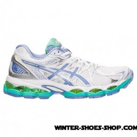 Delicate Design US Women's Asics Gelnimbus 16 Running Shoes White/Periwinkle/Mint Outlet Online