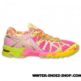 Unique Style US Women's Asics Gelnoosa Tri 9 Gr Running Shoes Hot Pink/Gold/Gold Ribbon Outlet Online Sale