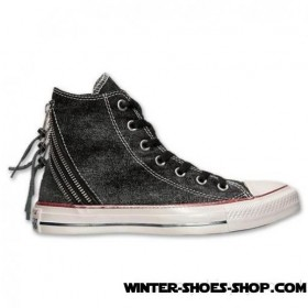 Tendy Style US Women's Converse Chuck Taylor Trizip Sparkle Wash Casual Shoes Black Big Sale